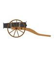 cannon artillery old gun military weapon war vector image