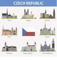 Czech Symbols of cities vector image