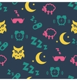 Sleep time seamless pattern vector image