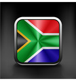 South African flag national travel icon country vector image