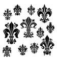 symbol heraldiic fleur-de-lis lily flower vector image