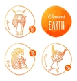 Zodiac element earth vector image
