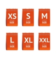 Red Size Clothing Labels Set vector image