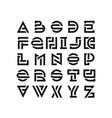bold broken latin font vector image