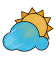 sun and cloud icon vector image