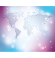 light abstract background with map of the world vector image vector image