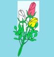 rose flower bouquet vector image vector image