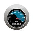 Car speedometer showing someone speeding vector image