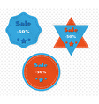 three different sale labels vector image