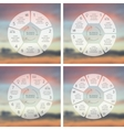 Circle line infographics set Template for cycle vector image