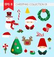 Christmas collection clippart 01 vector image