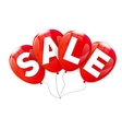 Glossy Balloons Sale Concept of Discount vector image