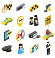 Taxi icons set isometric 3d style vector image vector image