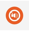 Speaker volume sign icon No Sound symbol vector image