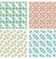 Seamless patterns set - vintage backgrounds vector image