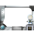 A frame with an astronaut vector image