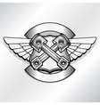 biker logo Motor club piston vector image