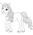cute young unicorn vector image