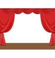 Empty stage vector image