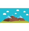 flat mountains vector image