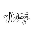 lettering word halloween vector image