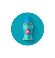 mouthwash icon in a flat style design vector image