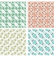 Seamless patterns set - vintage backgrounds vector image