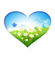 Summer background in the form of heart vector image