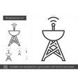 Broadcasting line icon vector image