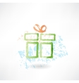 present grunge icon vector image vector image