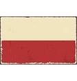 Polish grunge flag vector image