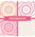vortex abstract backgrounds set in sweet pastel vector image