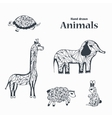 Sketch of Black and White Animals vector image