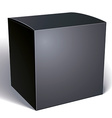 blank black box isolated on white background vector image vector image