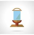 Glass billboard flat icon vector image