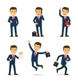 Lawyer or attorney cartoon character vector image