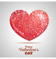 Valentine sparkle red love heart vector image