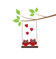 owl love vector image