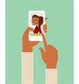 Online dating app vector image