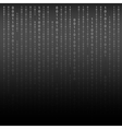 Black and White Algorithm Binary Code with digits vector image