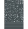 Background of white blackboard with mathematical vector image