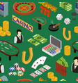 casino and gambling game background pattern vector image