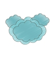 drawing cloud climate weather vector image