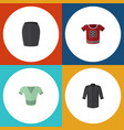 flat icon dress set of casual uniform t-shirt vector image