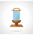 Glass billboard flat icon vector image