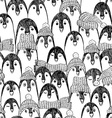 Graphic Seamless Pattern With Penguins vector image
