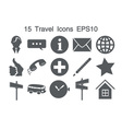 Icons grey15 vector image