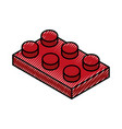 isometric block game piece vector image