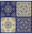 Lace pattern set vector image