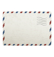 old envelope template vector image